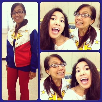 Oh my goodness my #Tagalog #Professor or preferably, Tita Imee is so #adorable :) I #love her and her outfits <3 she's so #inspirational and #fashionable :) she also told me to try out for this pageant thing today and I probably will because of her lololol. #bestfriendsforlife #5ever #ootd 💗❤💗👯 #filipino #swag lololol.
