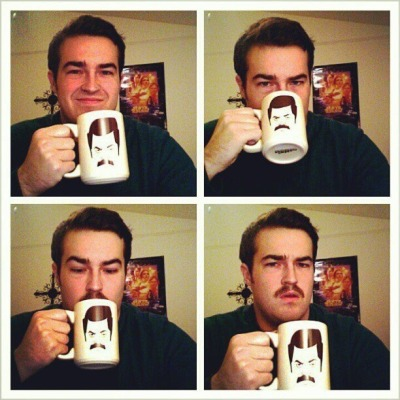pleatedjeans:  via    The power of the mustache mug.