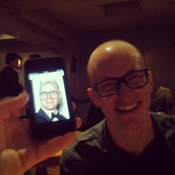 . @zicklurky + my glasses = Ade Edmonson (at The Pelican)