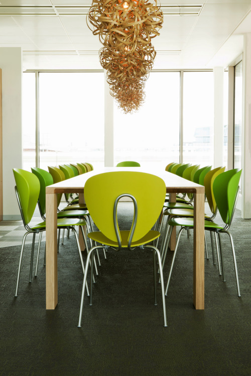 Publicis agency in Dublin with vibrant green Globus chairs from STUA.STUA Design Blog