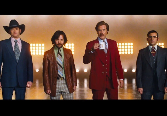 gq:  Ron Burgundy is back. Watch the new trailer for Anchorman: The Legend Continues  New?