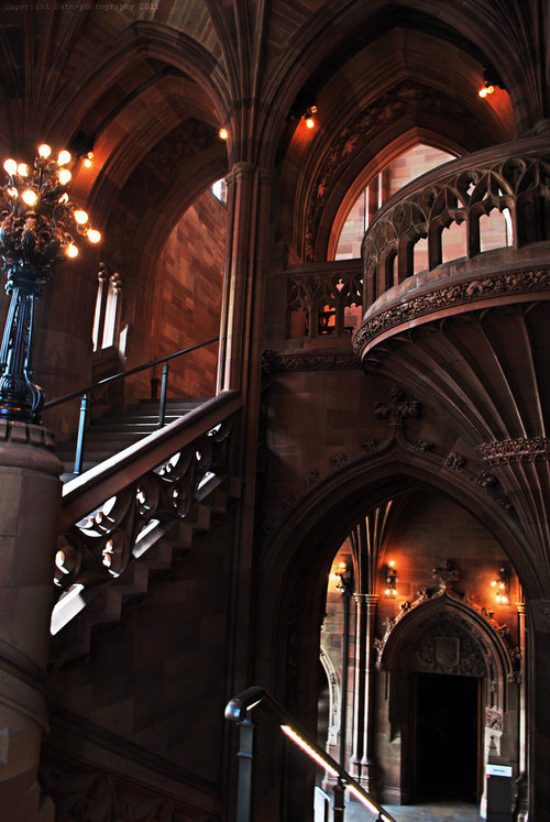 Arches, The John Rylands University Library,  Manchester, England photo via mark
