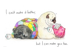 dog funny cute adorable comfy cartoon book tea pug cozy dogs pugs tea cup tea bag quilt reeding