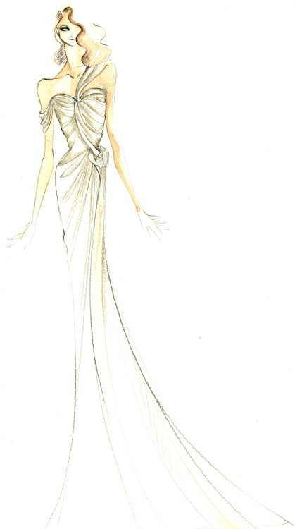 First comes the illustration…  #SofiaVergara #DonnaKaranAtelier