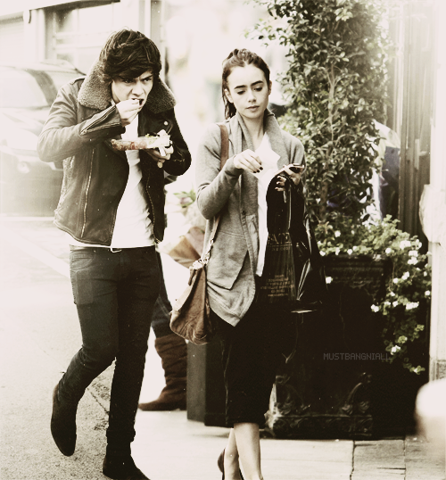 Harry Styles and Lily Collins