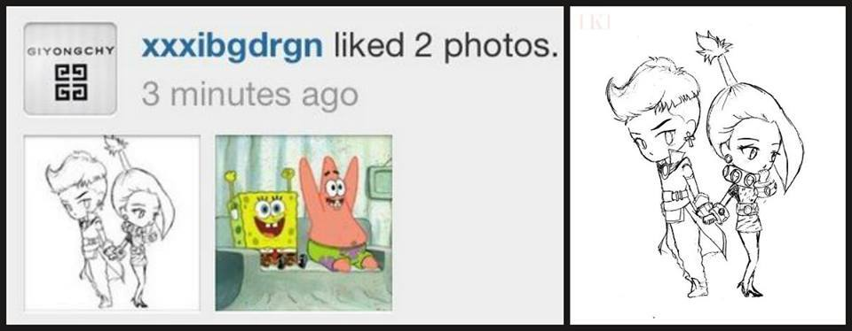 danniedaraxgd:  I'M JUST DYING OF MY DARAGON FEELS RIGHT NOW ~~GD LIKED A DARAGON FAN ART IN INSTA KYAAAAA ~~~NOTE: HE WAS THE FIRST ONE TO LIKE THAT FANART