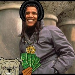 Aaaah mister president right now rasta and gangsta ..