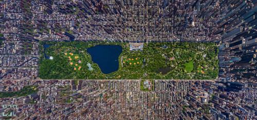 The Atlantic features a stunning aerial photo composite of Central Park, shot by Sergey Semonov of Russia, which won first prize in the amateur competition of the Epson International Pano Awards. Click here to enlarge, it's fucking amazing to see all that gorgeous park space surrounded by monoliths.