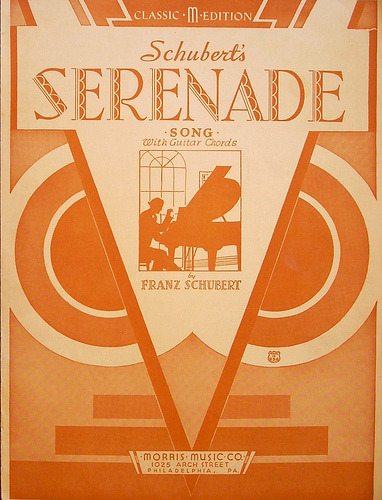 Schubert's Serenade sheet music cover c. 1933 (via JAVA1888)