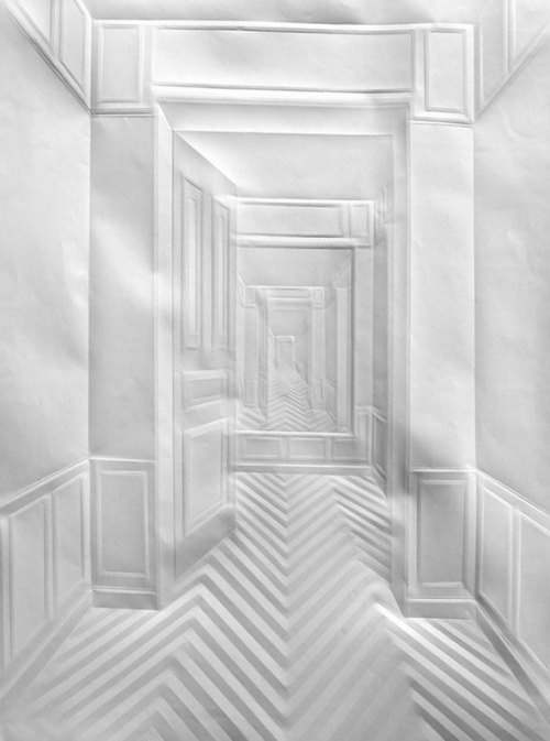 Folded Paper Art by Simon Schubert