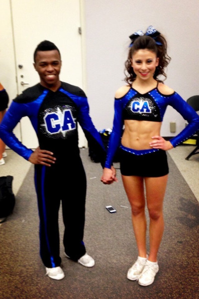 cheerreporter:  California Allstars Black Ops *Sr medium coed 5* new uniforms!