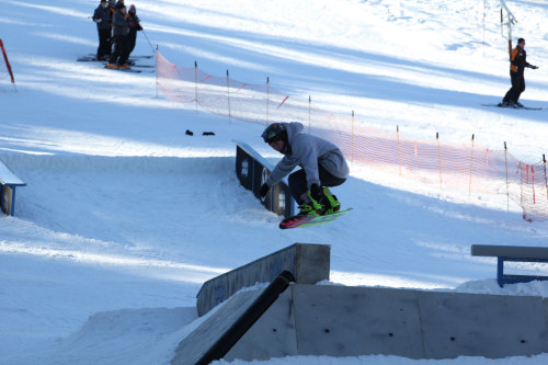 A rider enjoying the Terrain Park on Dec. 15, 2012