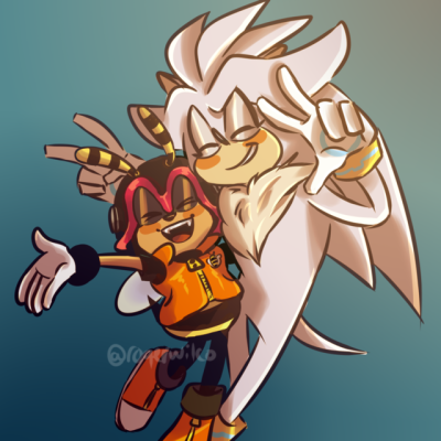 dailysilverthehedgehog: au where silver joins the chaotix and charmy throws him a huge welcome party