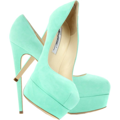 Brian Atwood pumps   ❤ liked on Polyvore (see more suede platform pumps)