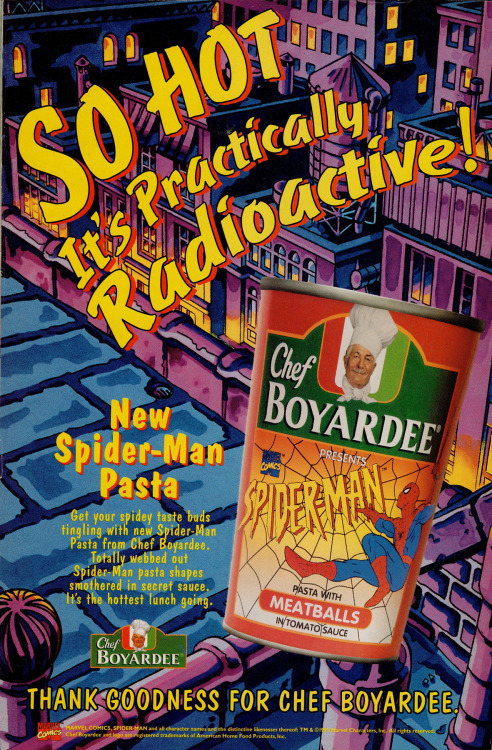Spider-Man never eats this stuff because he would shit himself dry
