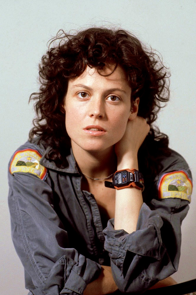 Sigourney Weaver as Ellen Ripley in Alien. 1979.