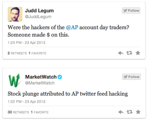 LJ Digital: News Twitters get hacked left and right. Is this the problem with reporting breaking news online? Twitter should probably try to fix this.