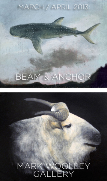 I have two art shows in March through to May, and both in Portland:BEAM & ANCHOR: OPENING! Thursday, March 21, 5:30-8:30pmA show of framed new paintings, full of floating sea animals and landscapes. Hope to see you there!! Show runs through early May.• beamandanchor.comMARK WOOLLEY GALLERY: A lovely show with Wesley Younie, of animals and birds galore. Located on the airy third floor of the Atrium Building at Pioneer Place mall, it is full of light and a wonderful sense of space. Open Thurs-Sun, noon-6pm, or by appointment. The show runs March 16 - May 12. • markwoolley.com