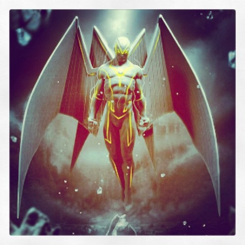Sick artwork of #archangel from the #xmen enhanced by Instagram and me 😏 #marvel #marvelnow #angel #apocalypse
