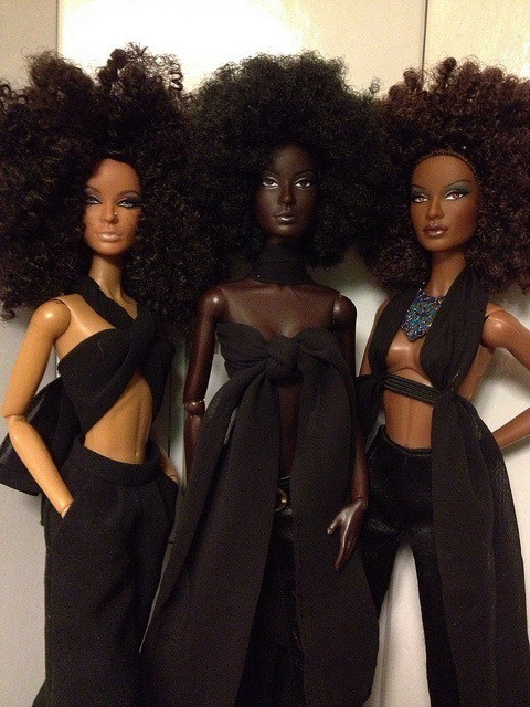 THE REAL BLACK BARBIE.  I love how black comes in so many different shades