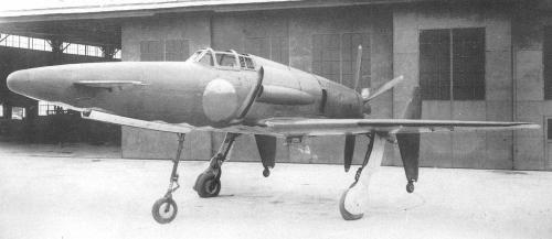 Japanese Prototypes of World War Two…Image #2: Kyushi J7W Shinden A unique canard/pusher configured interceptor, the Shinden was designated as a major type to be acquired by the Imperial Japanese Navy. With its development not fully underway until after June 1944, only 2 examples were completed and two test flights undertaken in August 1945. The Shinden was also suitable for potential adaptation to a gas turbine engine, as per the Swedish Saab J-21/21R.