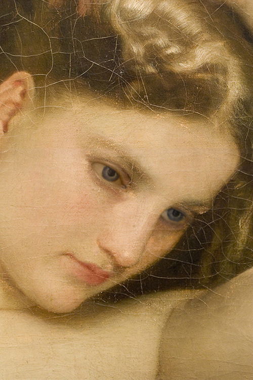c0ssette:  Baigneuse (detail) 1870 by William-Adolphe Bouguereau