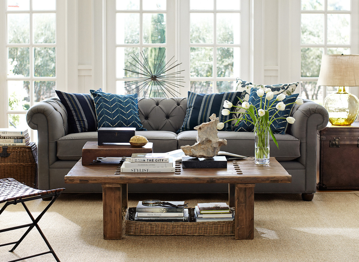 potterybarn:  Mix and match textures + colors