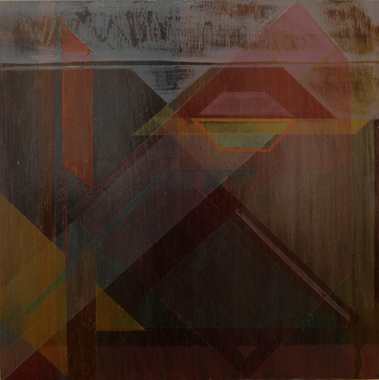 Brown fx VPolycrylic and fluid acrylic on wood panel2ft x 2ft2013