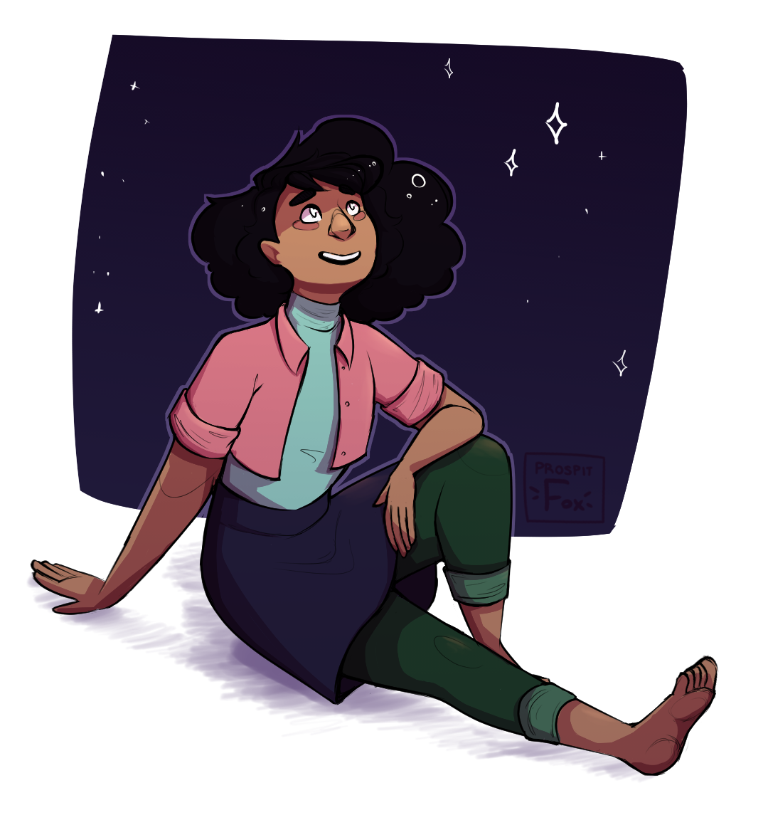 after the party, steven and connie go out and look at stars ~