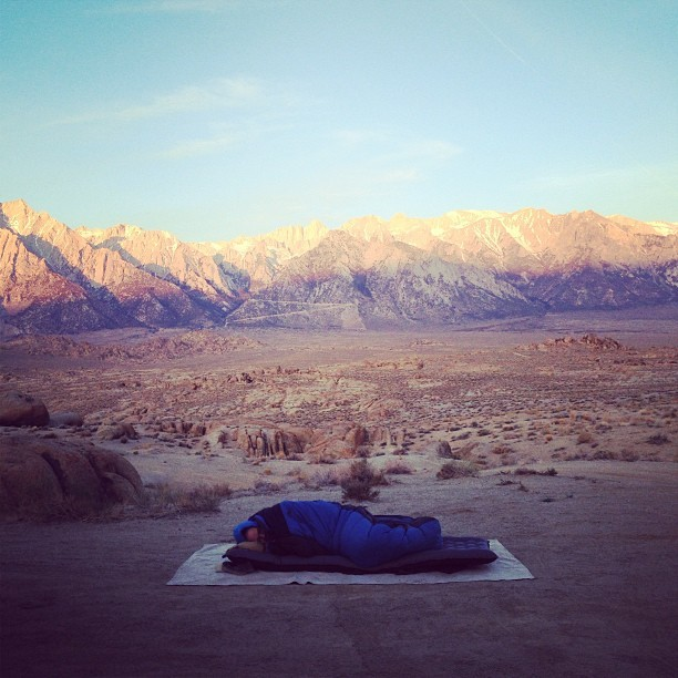 patagonia:  Patagonia Designer John Rapp catching some Z's after a day of #funhogging on the East Side of the Sierras. Photo by @fosterhunting