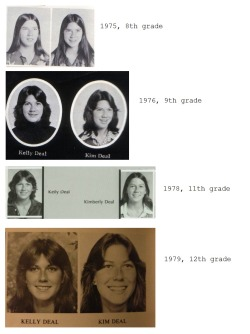 srhuesos:  Kim and Kelley Deal; yearbook pictures