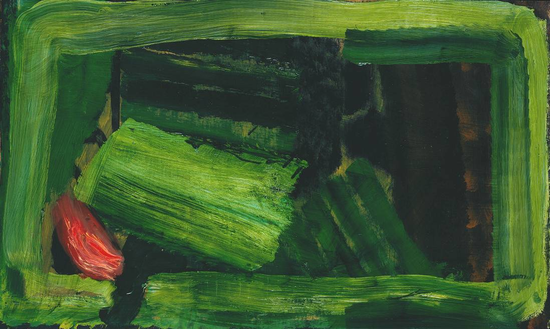 cavetocanvas:  Howard Hodgkin, Clean Sheets, 1979-84 From the Tate Gallery:  One New York critic described this work as 'restful and joyful', while continuing, 'we seem to have come in at the beginning of a disquieting drama between an upright and a reclining figure.' On the content of the picture Hodgkin has stated, 'It's just the interior of a bedroom. But as someone neatly put it, it's full of Friday night thoughts.'