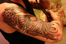My Japanese dragon tattoo by Cliff Judson on Flickr.