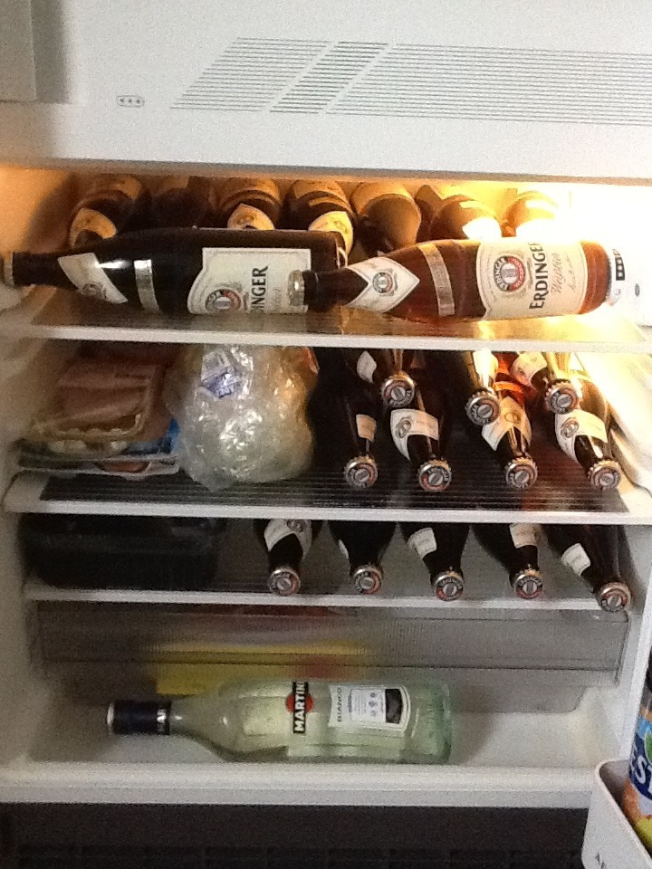 our fridge here in Germany. I think we have too much food and not enough beer ;)