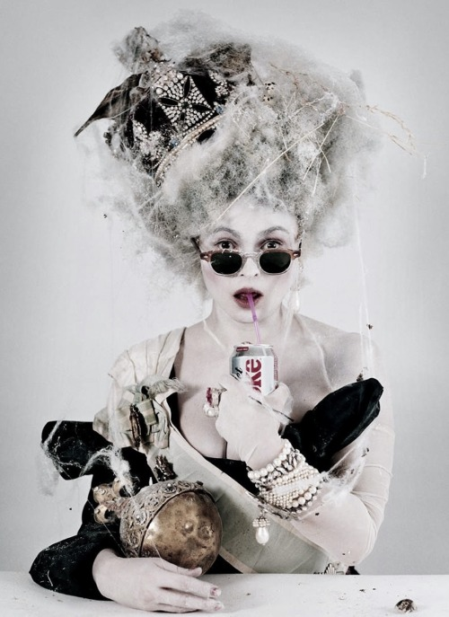 idreamofaworldofcouture:  Helena Bonham Carter by Tim Walker