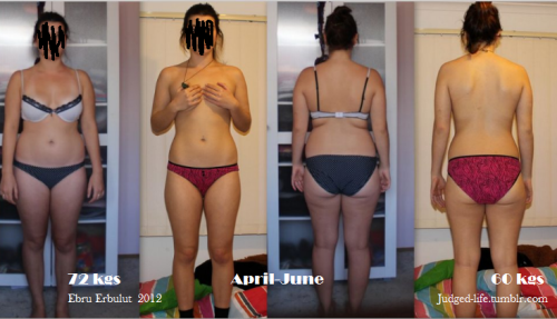 beforeandafterfatlosspics:  efil-degduj This is my transformation picture! start of April 2012 - 1st July 2012I weigh 60 kgs, where I used to weigh around 72 kgs!I had lost the first 10 kgs in the first 2 months and then after that I had started going to gym and gained a lot of muscle in my body. Height - 163cm
