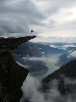 ourwildways:  Trolltunga by OpplevOdda on Flickr.