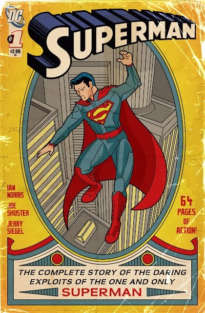 Ian Norris covers Superman #1 (1939)