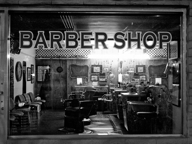 2nd St. Long Beach - January 2013 Barber shop interiors always seem to catch my eye.