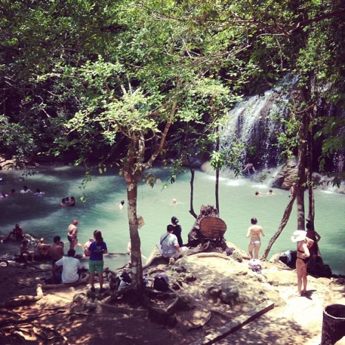 I was here today ☀🌴🌱#whaat #thailand #waterfalls