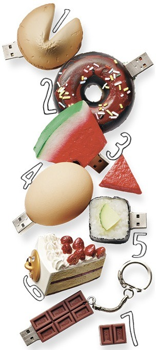 Can you guess which one of these foodie USB drives is a fake? Get the answer and find out where to buy them here!
