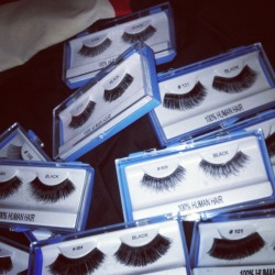 These are just some of the lashes I rock