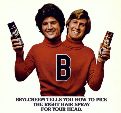 Back when Brylcreem decided to go after the lucrative polycephaly market.