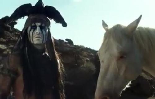 Johnny Depp as Tonto Talks to a Horse in Second 'Lone Ranger' Trailer The second trailer for the upcoming movie version of The Lone Ranger has been posted to Disney UK's YouTube page, and it's bound to provoke a few reactions in Indian country.