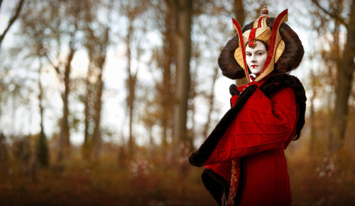 Netherlands cosplayer Riluna as Queen Amidala from Star Wars.Photo by Sander ( http://gevoelsfotografie.nl/ )Like this costume? Let her know! Leave a comment on her Deviantart:http://riluna.deviantart.com/art/Queen-Amidala-299634503