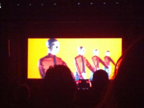 I reviewed Kraftwerk at the Tate for The Guardian on the Tour De France night (aka the best night because a lot of other KW albums are pretty shit tbh.) Read it here if you want, it was pretty great.  http://www.guardian.co.uk/music/musicblog/2013/feb/15/kraftwerk-tate-modern-tour-de-france