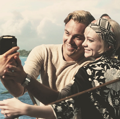 the-absolute-best-posts:  vwiola: Mr. Gatsby and Daisy Buchanan casually taking selfies. This post has been featured on a 1000notes.com blog.