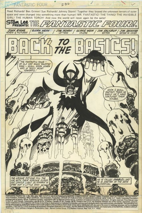 Back To The Basics: Original art from Fantastic Four By John Byrne