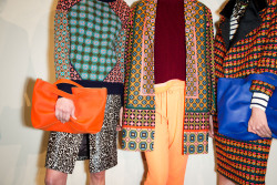 glamour:  Pattern inspiration at J.Crew's fall presentation. More here! Photo: Mark Leibowitz