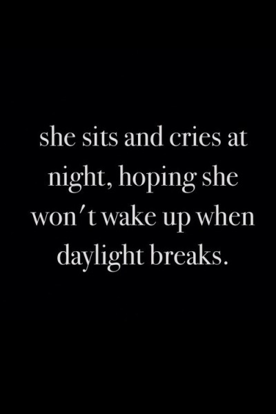 But she always does and it breaks her more each day